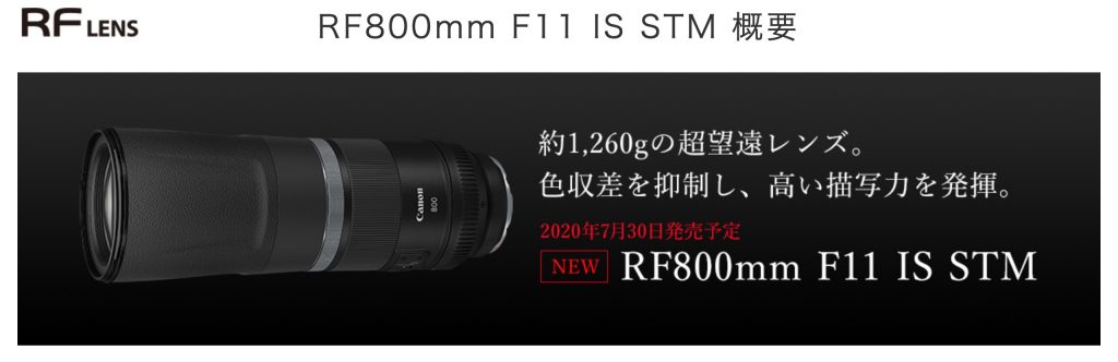RF 800mm F11 IS STM